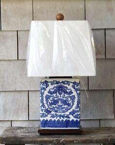 Ralph Lauren Blue and White Koi Fish Table Lamp ~ New