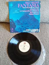 "FANTASIA WALT DISNEY SOUNDTRACK LP VINYL VINILO 12"" 1968 G/VG SPANISH EDITION"
