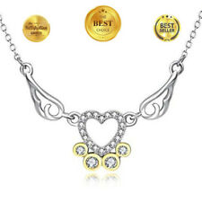 ANCREU Angel Wing Necklaces for Women Love Heart Pendant Necklace Gifts Girls