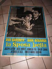 MANIFESTO,1960 LA SPOSA BELLA AVA GARDNER DIRK BOGARDE DE SICA COTTEN 1 EDIZIONE