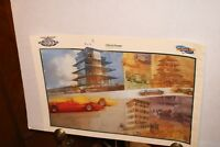 INDY 500 COLLECTORS POSTER 2000 LIMITED REPRO OF PROGRAM COVER PAGODA THRU YEARS