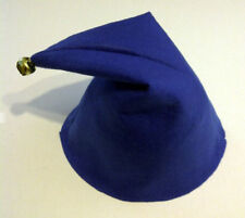 SMURF NODDY HAT SMURFETTE GNOME ELF HAT WITH BELL FANCY DRESS PARTY one size