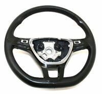 VW Polo 6C Leather Multi function Flat Bottom Steering Wheel 6C0 419 091 F