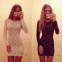 New Sexy Womens Bodycon Slim Lace Mini Dress Cocktail Club Party Dress Hoc