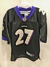 Reebok NFL BALTIMORE RAVENS RAY RICE # 27 JERSEY YOUTH MED SEWN NAME&NUMBER