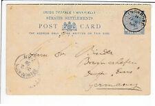 SINGAPORE , POSTAL STATIONARY 3 CENT , 1888 / Q