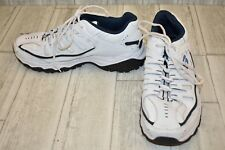 Skechers After Burn Memory Fit Athletic Sneakers, Men's Size 10, White/Navy