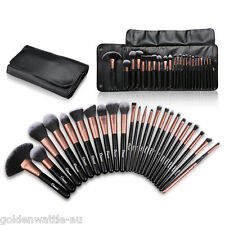 Ovonni 24Pcs Superior Soft Cosmetic Makeup Brush Set Brushes Kit +Pouch Bag Case