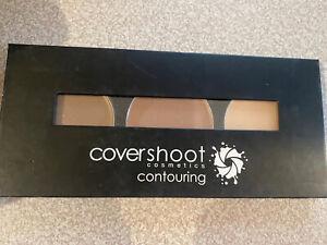 Covershoot Cosmetics Contour Kit/Set Palette Contour/Bronze/Highlight with guide