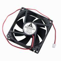 24V 80mm 25mm Cooling Case Fan 80x80x25mm PC CPU Computer Sleeve Bearing 2pin