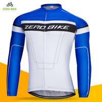 Mens Cycling Shirt Jersey Long Sleeve Bike Clothes Top Cycle Jersey jacket M-XXL