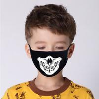 Kinder Baumwolle Masken Gesundheit Staubschutz Mund Waschbar Schädelstil