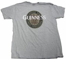 NEW Mens Light Grey Guinness Beer Logo Graphic T-Shirt Size XL