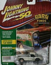 2019 JOHNNY LIGHTNING 50 YEARS BARN FINDS 1957 CORVETTE #4 SILVER RUBBER TIRES