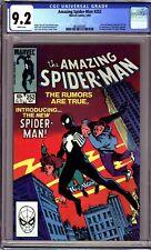 AMAZING SPIDER-MAN #252 (MARVEL 1984) CGC 9.2 NM- 1ST BLACK COSTUME!