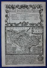 Original antique map KENT, Owen & Bowen, 'Britannia Depicta', 1724
