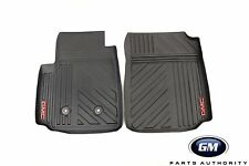 2015-2019 GMC Canyon Premium All Weather Front Floor Mats 22968489 Black w/ Logo