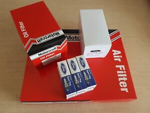 Falcon BA Oil Air Fuel Spark plugs FORD GENUINE Filter Service Kit I6 Not Turbo