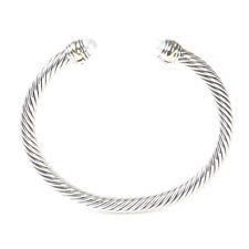 DAVID YURMAN Women's Cable Classics Bracelet Pearl & 14K Gold 5mm $625 NEW