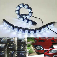 1 Pair Car Flexible 12 LED DRL Daytime Running Light Driving Daylight Fog Lamp