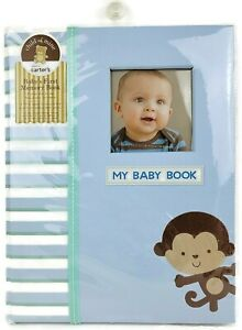 Child Of Mine Carters Baby's First Memories Book Little Guy Monkey Cover Journal
