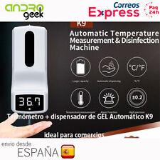 Termómetro + dispensador gel automático K9 sin contacto (ideal para comercio)24H