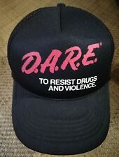 VINTAGE D.A.R.E HAT TRUCKER SNAPBACK CAP