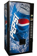 Royal Vendors RVMCE-654-10 10 Selection Multi Price Vending Machine Pepsi Logo