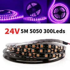 24V 5M Pink 5050 300SMD 300leds 100% Waterproof Flexible Strip Light Lamp IP65