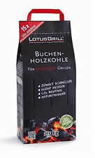 LotusGrill 2,5kg Buchenholzkohle Kohle für den raucharmen Holzkohlegrill Grill