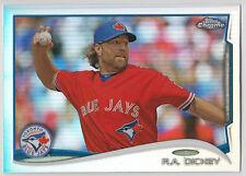R.A. DICKEY 2014 Topps Chrome Baseball Refractor Card #104 Blue Jays
