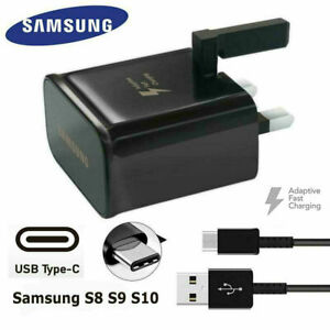 100% GENUINE FAST CHARGER PLUG & CABLE  SAMSUNG GALAXY S7 S20 S21 S9 S10 NOTE