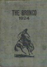 Blackfoot Idaho High School Yearbook 1924 The Bronco