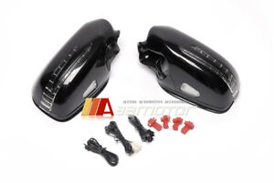 Black Arrow Type LED Side Mirrors Set fits 06-09 Mercedes W211 Facelift E-Class