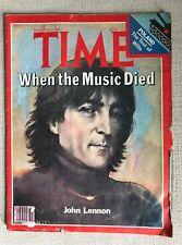 "TIME MAGAZINE DEC. 22, 1980 ""WHEN THE MUSIC DIED"" JOHN LENNON ISSUE"