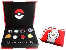 Pokemon Gold Silver Johto Region Gym Badges SET with Badge Box