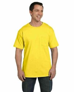 Hanes Mens Beefy-T T-Shirt with Pocket 6.1 oz 100% Cotton Tee 5190 S-3XL