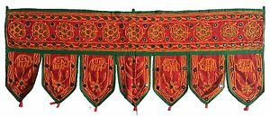 Red Indian embroidered toran door valances wall hanging Elephant Home Decor