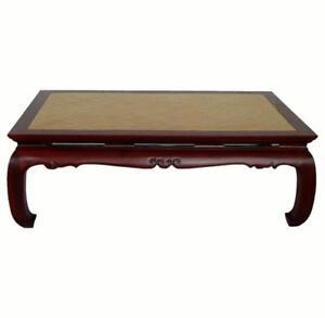 Ming Rattan Top Coffee Table