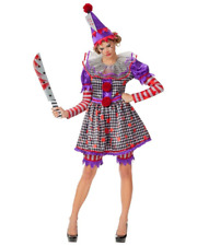 Sexy KILLER CLOWN Signature Deluxe Halloween Costume Cosplay Woman's Size Large