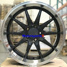 XXR 527D Wheels 20 +20 Graphite Deep Lip Rims Staggered 5x114.3 Fits Nissan 370z