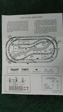 LIONEL 1946 4 X 8 SUPER O LAYOUTS INSTRUCTIONS PHOTOCOPY