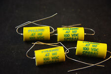 Four NOS Pyramid Paper and Oil .47 uF 100V, P/N CP 05A1, EB474K Tone Capacitors