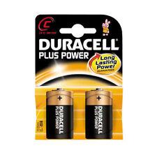 2 X Duracell C Alkaline Battery Batteries MN1400 Lr14