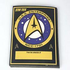 "Vintage Star Trek Bookplate Stickers Lot of 19 USS Enterprise Logo 3"" x 4"" 1994"