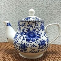 Old China blue and white porcelain teapot handmade ceramic large capacity 1000ML