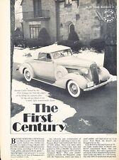 1936 Buick Century 60 Convertible Coupe  Original Car Review Print Article J586