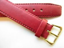 band ~ 14 mm Red vintage 1960's leather watch
