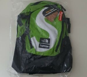 FW20 Supreme x The North Face S Logo Expedition lime backpack TNF Cordura Fabric