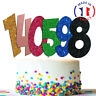 Cake Toppers  Brillant Gateau anniversaire happy birthday chiffre 123456 OR